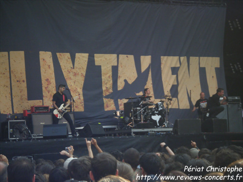 Billy Talent au Parc des Princes de Paris le 26 juin 2010